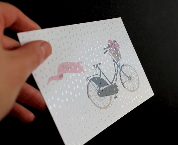 Muenster Postcard with partial coating for the rain