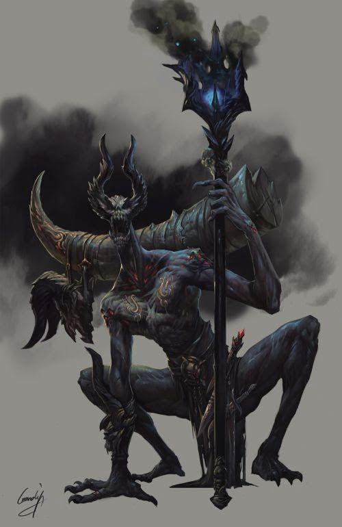 Shengyuan Lee grandialee ilustrações fantasia anime Demônio necromante
