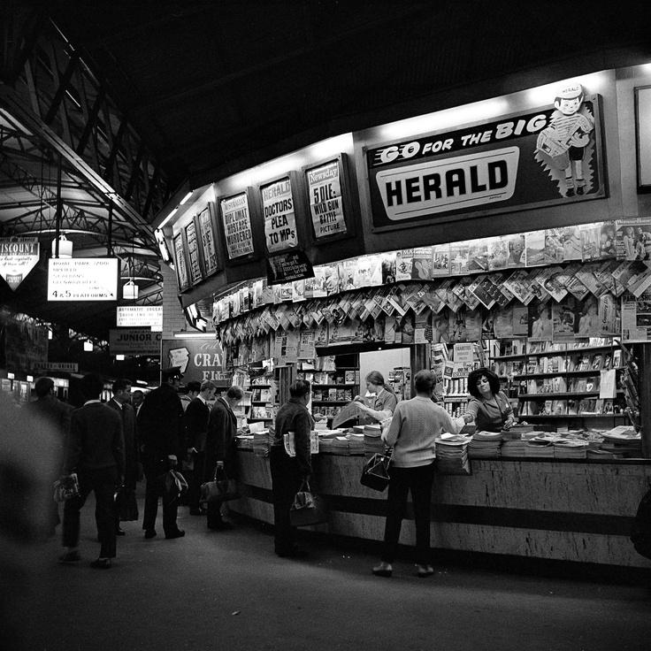 Newsstand. Flinders Street Station