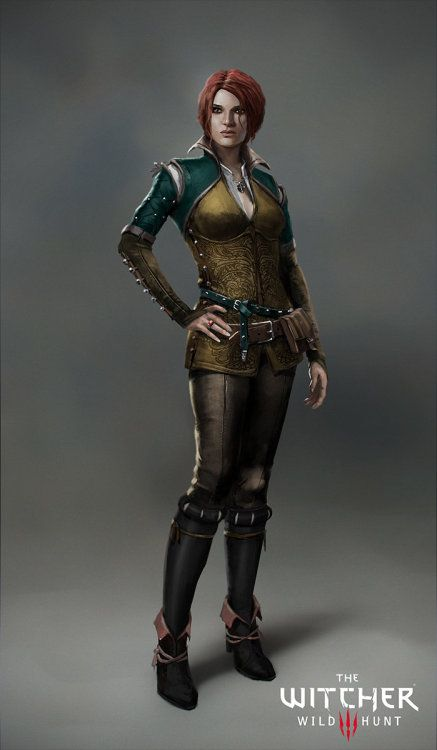 The Witcher 3: Triss Merigold – character concept by Marek Madej