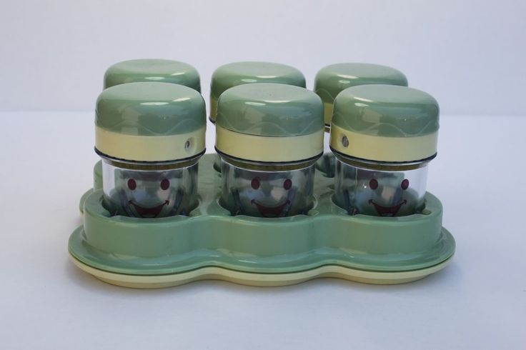 Baby Bullet 6 Cups with Date Dial Lids + Tray, NEW! #Generic