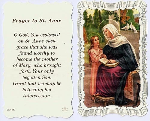 Share in the faith and hope of St Anne with our St Anne Linen Prayer Card. St Anne was childless, and she kept the hope that God would someday bless her with a child. Through her endless hope and unwavering faith, God blessed her with a child, the Virgin Mary.With St Anne being one of the patron saints of housewives, grandmothers, unmarried women and women in labor, our St Anne Linen Prayer Card is the perfect gift for the women in your lives. Insert it in the birthday card ...
