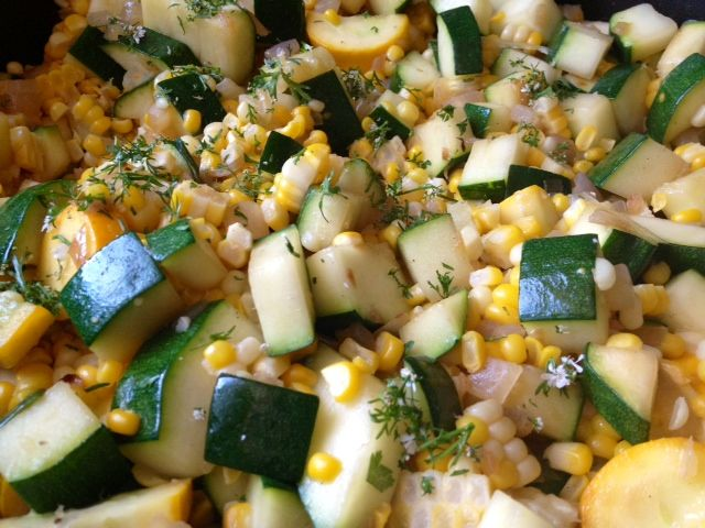 Fresh Corn and Zucchini Sauté via @Sandy Coughlin | Reluctant Entertainer.com: Salads Veggies Side Dishes, Vegetables Sides, Zucchini, Food, Recipes Ideas Sides, Sum Mmmmm Er Recipes, Cultured Vegetables, Corn, Recipes Sides Etc