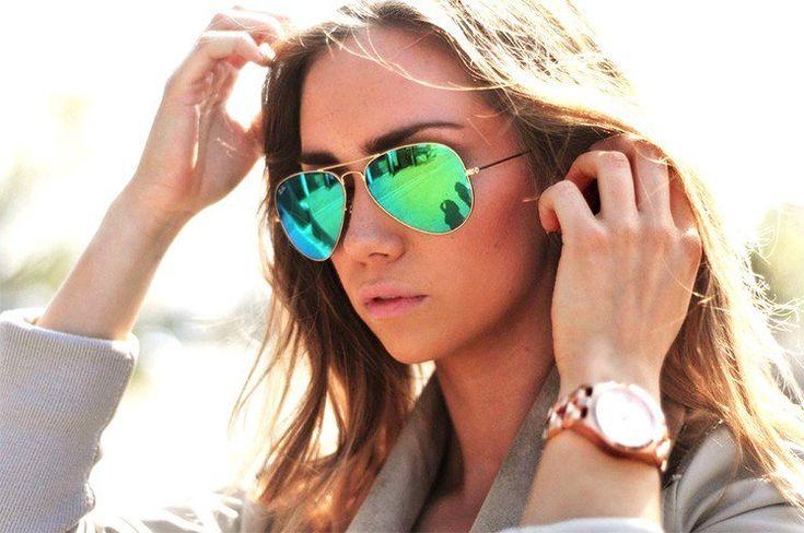Retro Sonnenbrille für rundes Gesicht