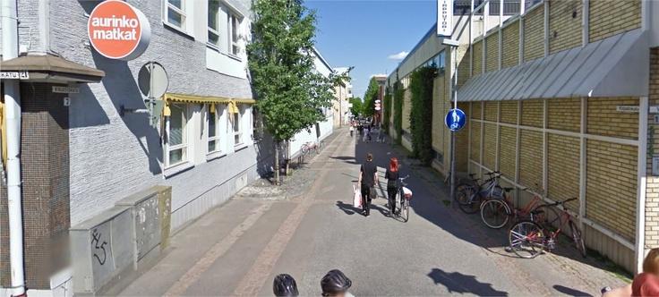 Kirjastokatu near the Market Place, Kuopio, Finland.