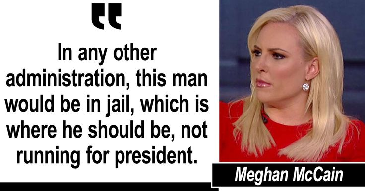 Meghan McCain: Eric Holder Should Be in Jail, Not Running for President