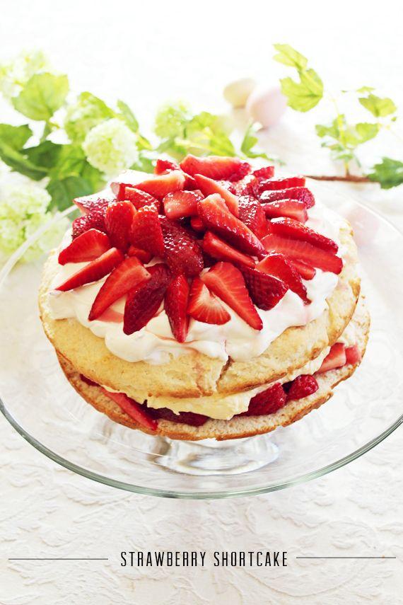 Easter Dinner: Strawberry Shortcake with Homemade Whip Cream