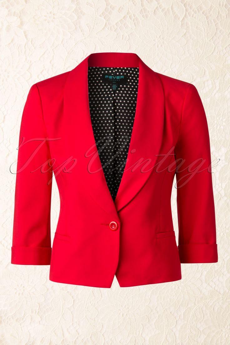 De 60s Keats Blazer in Tangerine Red van Fever is een super elegante blazer die van iedere outfit iets speciaals maakt!Dit classy jasje heeft 3/4 mouwtjes met speelse omslagjes, leuke paspelzakjes en een prachtige brede kraag, très chique! Deze beauty is mooi getailleerd, sluit door middel van een rode knoop en geeft je een super vrouwelijk silhouet! Uitgevoerd in een stevige maar soepel vallende fel oranje-rode katoenmix voor een mooie pasvorm en geheel gevoerd met een...