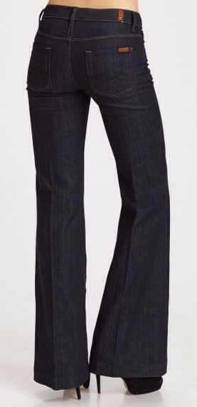 "Seven for All Mankind Women's Jeans, Wide Leg High Waist Style ""Ginger"", Size 27 #7ForAllMankind #WideLeg"