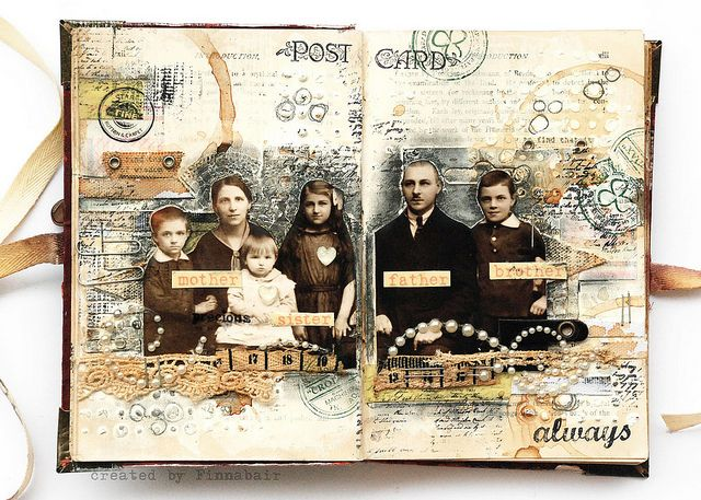 Odyssey family book - journal page 1 by finnabair, via Flickr