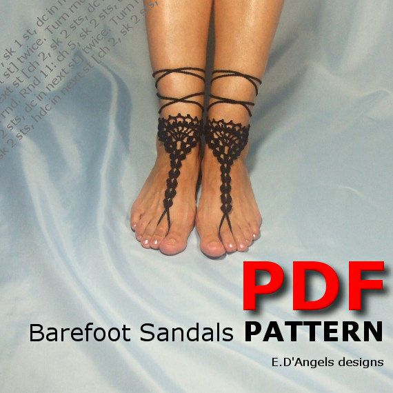 Hey, I found this really awesome Etsy listing at http://www.etsy.com/listing/153015025/barefoot-sandals-pattern-shell-shell