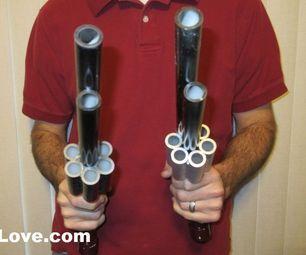 PVC Revolver Marshmallow Gun Blowgun DIY