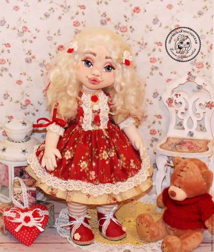 Купить Кукла Виктория текстильная интерьерная с объемным личиком - подарок девушке, подарок коллеге