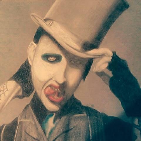 Marilyn Manson portrait - Anthony Gordon Art