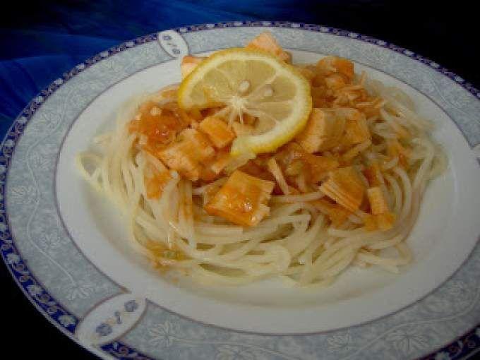 Spaghete cu surimi