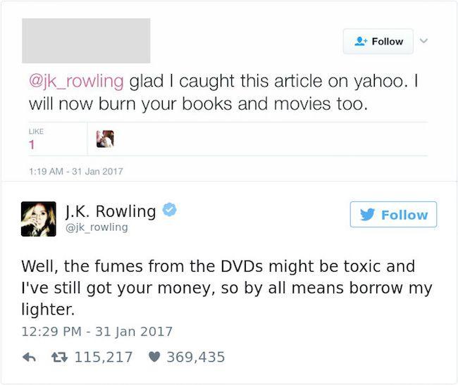 J.K. Rowling is my spirit animal!