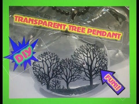 (DIY)  **HIGHLY REQUESTED** Transparent Resin Tree Pendant - YouTube