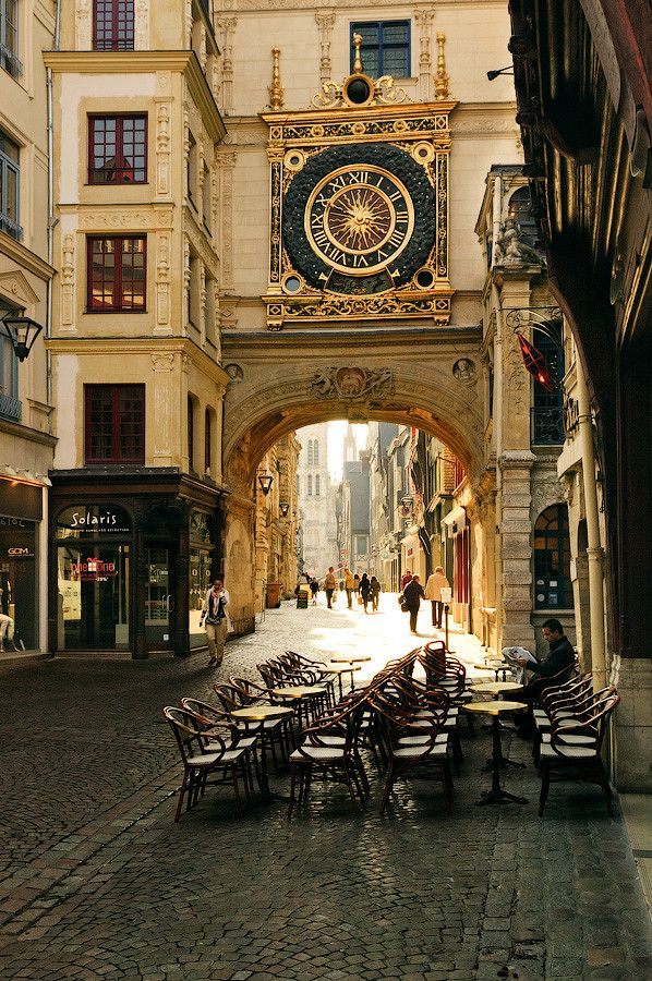 Morning in the city of Rouen, Upper Normandy, France