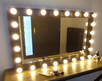 Hollywood mirror lights 25 pinterest xl hollywood mirror 43x27 handmade vanity mirror with lights mozeypictures Images
