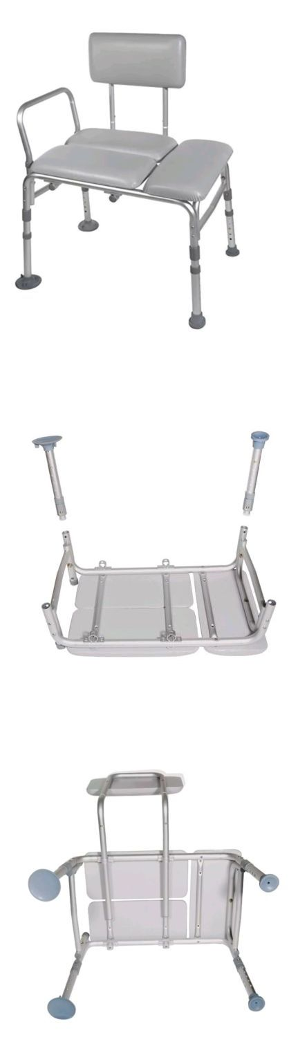 Transfer Boards and Benches: Drive Medical Padded Seat Transfer Bench, Gray - Capacity: 400 Lbs -> BUY IT NOW ONLY: $69.99 on eBay!