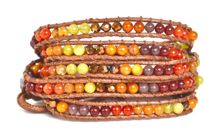 Wrap Bracelet Red, Orange, Yellow, Brown http://filosophyonline.com