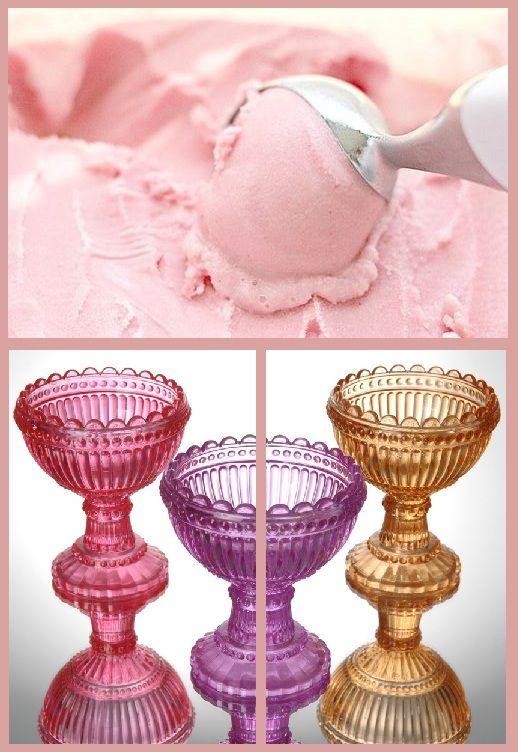Trío de copas de helado de color, bandeja de postres glass of ice cream, copas de postre, el hogar ideal, decoracion. 18 euros. http://elhogarideal.com/es/cocina-comedor/61-juego-de-copas-de-helado.html#.U8Sr1Pl_sko