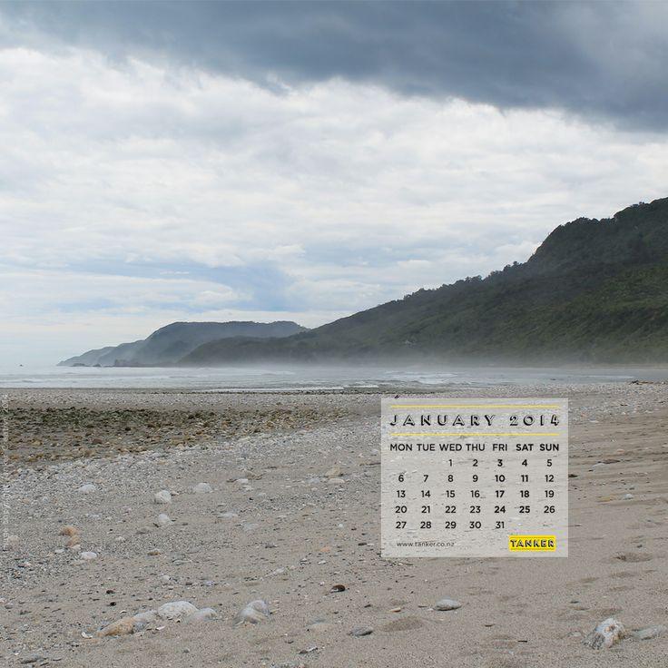 January 2014 Desktop Calendar (iPad version), Fox River, West Coast, South Island, New Zealand via http://tankercreative.com/2014/01/13/january-2014-desktop-calendar/