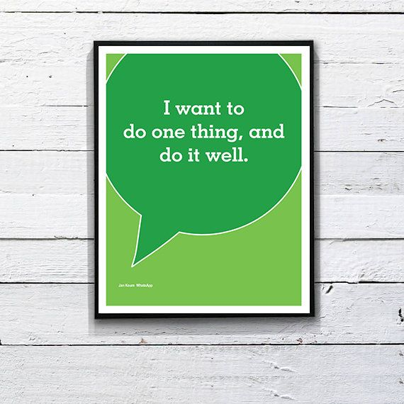 """I want to do one thing, and do it well."" - #Jan Koum #Quotes #Typography"