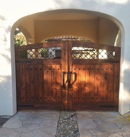 RUSTIC 101  Driveway Gates  DrivewayGarage  Driveway gate Wood doors Doors