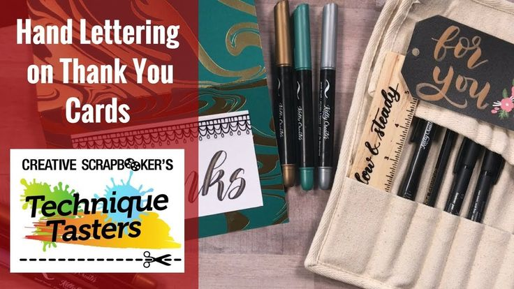 Hand Lettering On Thank You Cards - Technique Taster #130
