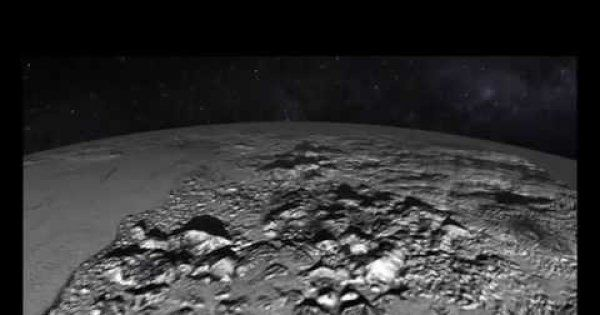 Animated Flyover of Pluto's Icy Mountain and Plains