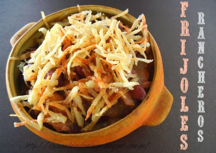 Cocinando Los Domingos: FRIJOLES RANCHEROS