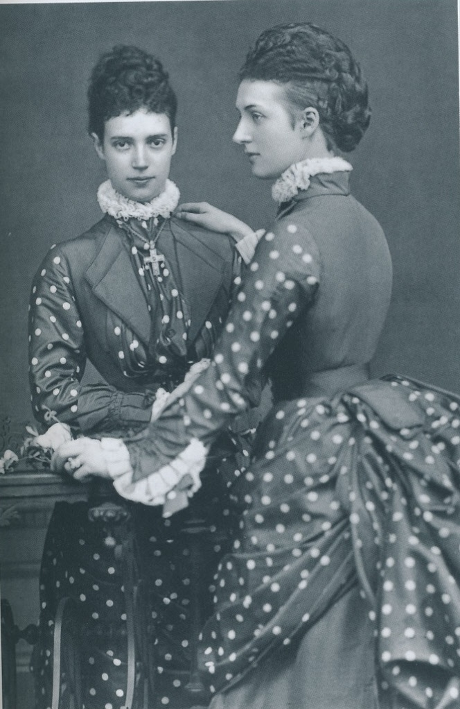 Empress Marie Feodorovna and her sister Alexandra, The Princess of Wales (later Queen Alexandra), 1873