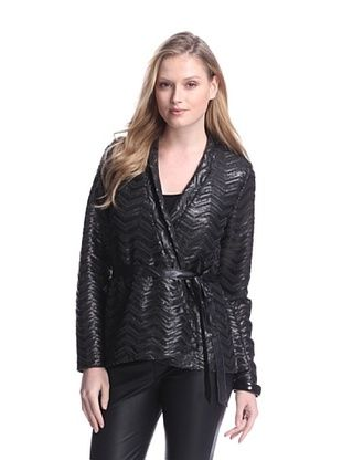 82% OFF Dolce Cabo Women's Sequin Chevron Jacket (Black)