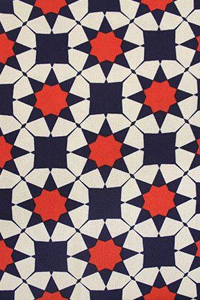 Años 60 geometria abstracto rojo azul