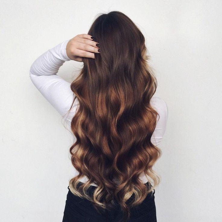 long brunette balayage #hair #color