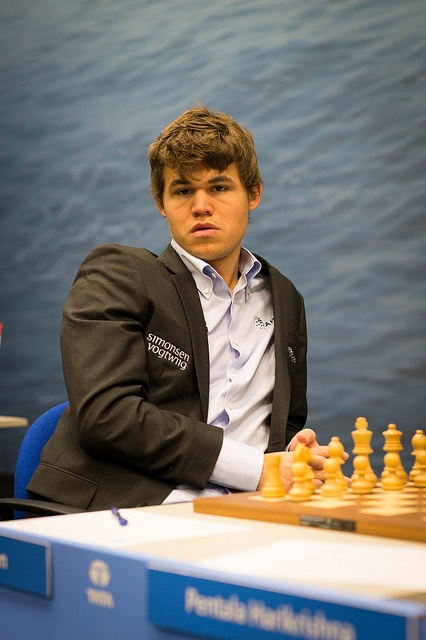 Magnus Carlsen is currently the No. 1 ranked player in the world, according to FIDE ratings.