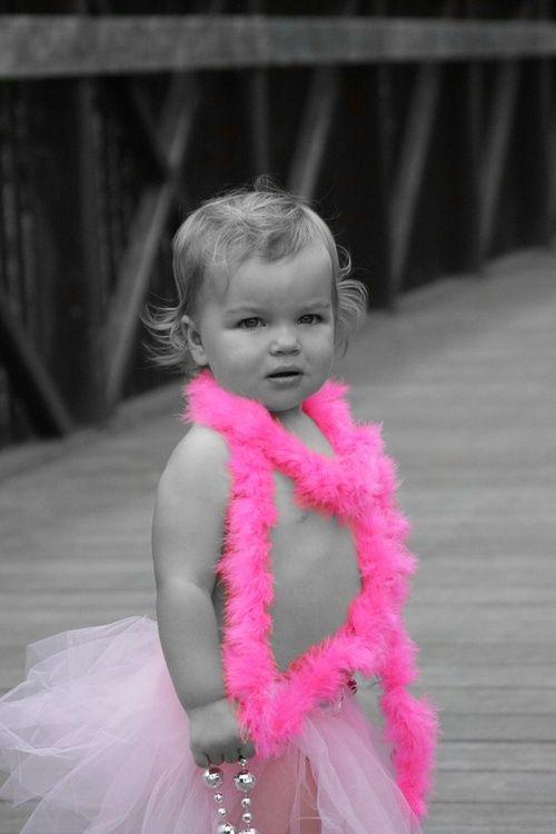 Pink boa baby