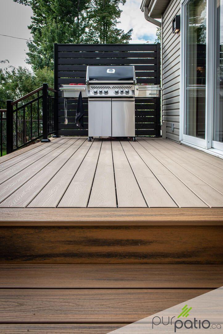 Project Carried Out By Pur Patio Rope Swing Colors Trex Composite Patio En 2020 Patio En Beton Patio En Bois Patio Exterieur