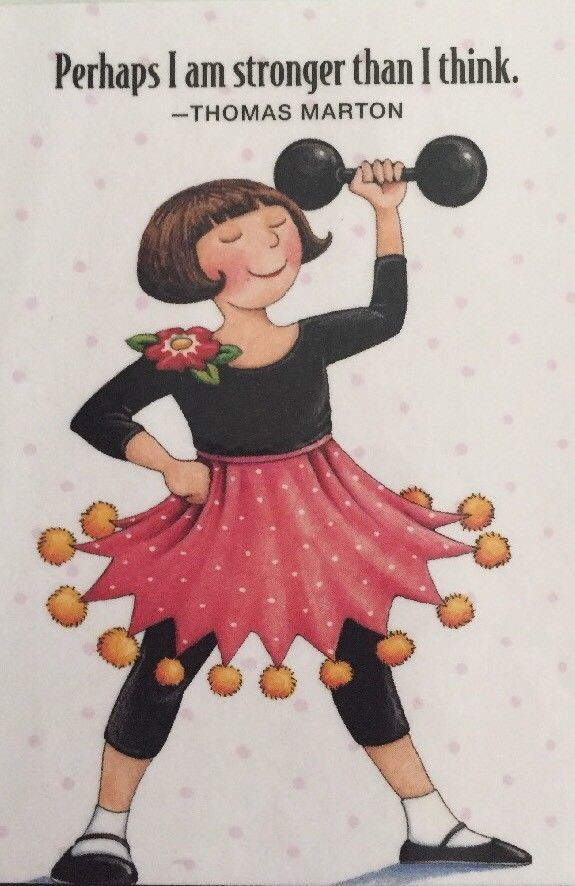 Handmade Fridge Magnet-Mary Engelbreit Artwork-Perhaps I Am Stronger | Collectibles, Decorative Collectibles, Decorative Collectible Brands | eBay!