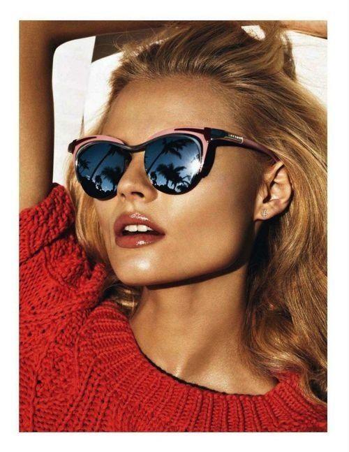 Fashion Trend Sunglasses Retro Border , Rose / or