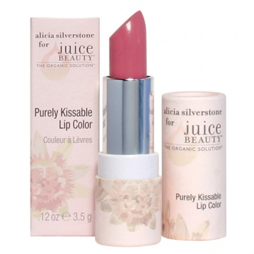 Purely Kissable Lip Color. Alicia Silverstone for Juice Beauty. Alicia's signature organic lip color for instantly kissable lips. This yummy blend of organic passionfruit, acai and goji berries, delivers a beautiful color, antioxidant nourishment and long-lasting hydration.