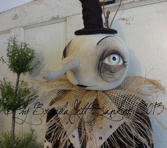 EPATTERN Primitive Folk Art Halloween Moon by thevintagepolkadot, $15.00 By Brenda Sanker