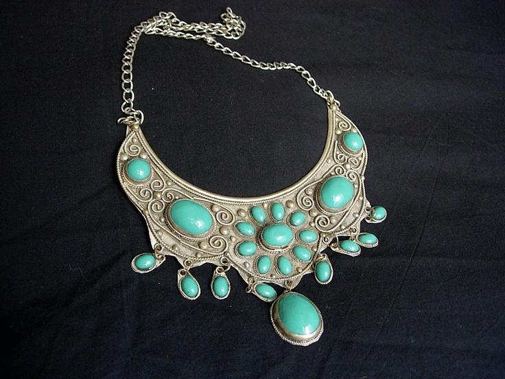 Uyghur necklace, Xinjiang, China.