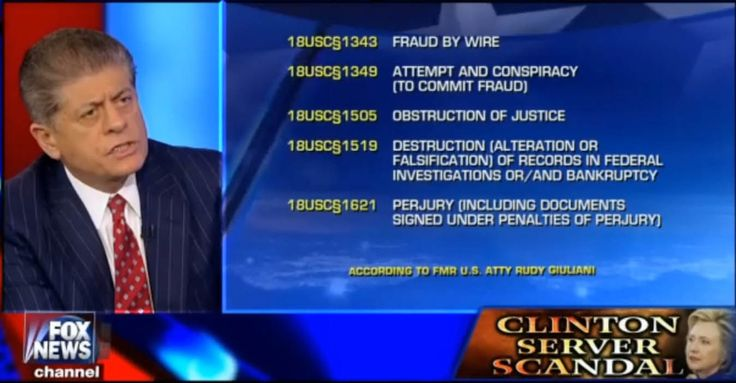 Andrew Napolitano on Hillary Clinton Benghazi - Sean Hannity 20151021