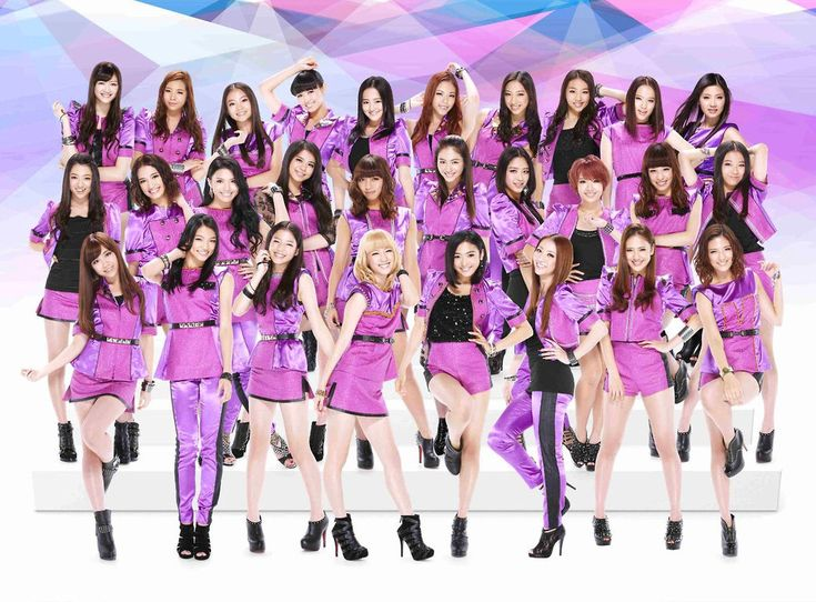 E-Girls - (Japanese) - a 20 member collective group. Okay if one or two are poorly. A bit like choosing a suitable team, a la Mission Impossible, for a particular song or performance. A squad of girls.