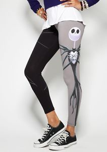 Disney Nightmare Before Christmas Leggings s M L XL Goth Yoga Dance Tim Burton | eBay - These WILL be mine!!