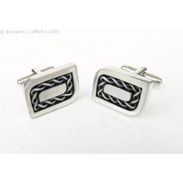 Celtic Inspired Rectangle Cufflinks - Imported directly from the maker in Scotland these cufflinks are timeless.  If you enjoy wearing the kilt or want something that is different then look no further.