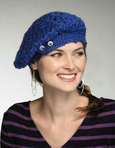 Baret style crochet hat