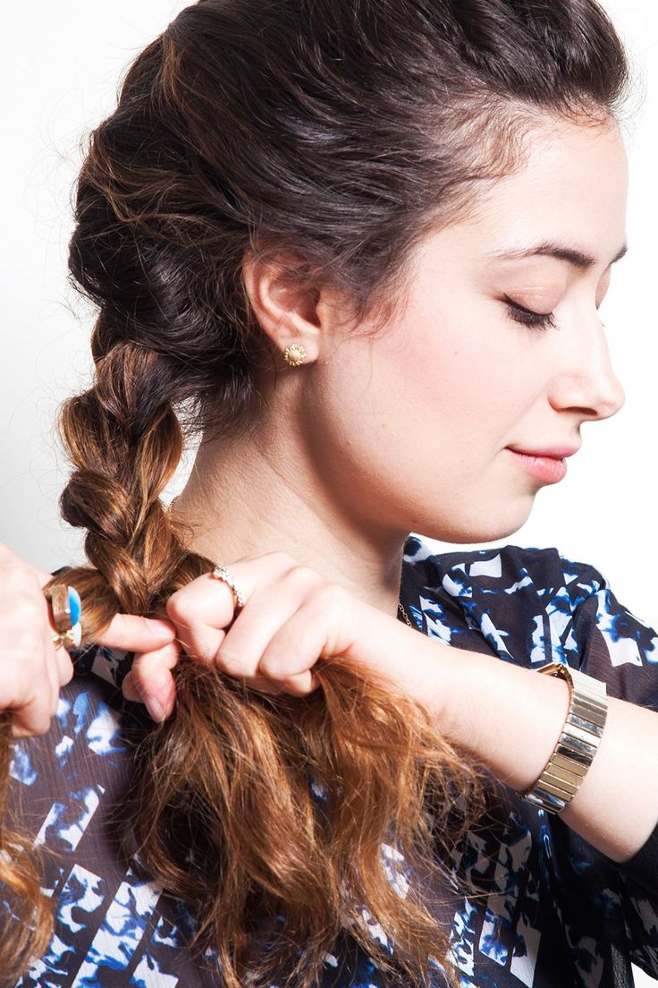 I French-braid my wet hair on nights when I shower before bed. As it dries overnight, it creates a smooth, mermaid-wave texture for my otherwise frizzy hair. I find that this added texture helps my hair hold a curl more easily.